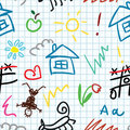 School pattern Royalty Free Stock Images