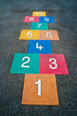 School playground hopscotch childrens fun uk Royalty Free Stock Image