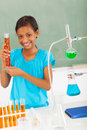 School pupil science happy female elementary in class Stock Photo