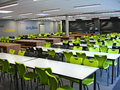 School refectory a secondary hall where the children have lunch and lessons Royalty Free Stock Photos