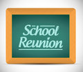 School reunion message written on a chalkboard illustration design graphic Stock Photos