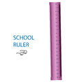 School ruler on a white background