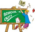 School`s out - happy schoolboy Royalty Free Stock Images