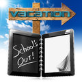 School's Out  - Vacation Sign Royalty Free Stock Photo