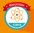 School science over yellow background vector illustration Stock Image