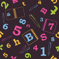 School seamless pattern Royalty Free Stock Photos