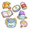 School set set of different school items vector illustration Stock Images