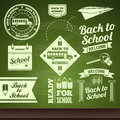School set vector back to of labels Royalty Free Stock Images