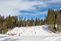 School Ski slope Clabucet Royalty Free Stock Photo