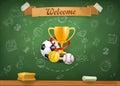 School sports, infographics background