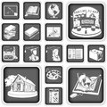 School squared icons collection of Stock Photos