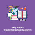 School Study Process University Education Web Banner