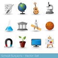 School subjects icon set vector illustration Stock Images
