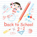 School subjects page with a pencil and Royalty Free Stock Image