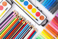 School supplies Royalty Free Stock Photos