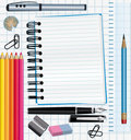 School supplies background. Royalty Free Stock Photography