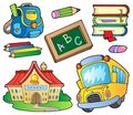School supplies collection 1 Stock Image