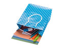 School supplies in a gift bag