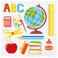 School supplies illustration Royalty Free Stock Photography