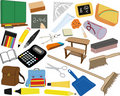School supplies illustrations Stock Image