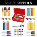 School Supplies, Pencil Box Royalty Free Stock Photo