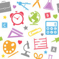 School Supplies Seamless Pattern Royalty Free Stock Photo