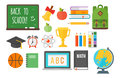School supplies stationery equipment vector illustration.