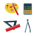 School supplies tools over white background vector illustration Stock Photo