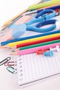School supply close up on Stock Photo