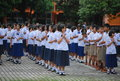 School in thailand children one of the Royalty Free Stock Photo