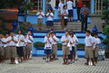 School in thailand children one of the Royalty Free Stock Image