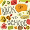 School theme background hand drawn illustration Royalty Free Stock Images