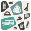 School theme background icons Royalty Free Stock Photo