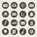 School theme icon set Stock Images