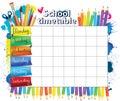 School timetable Royalty Free Stock Photo