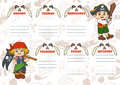 School timetable for children with days of week. Pirates Royalty Free Stock Photo