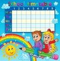 School timetable thematic image eps vector illustration Stock Images
