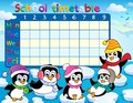 School timetable theme image eps vector illustration Stock Photos