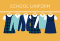 School Uniform for Children and Teenagers on Hangers Royalty Free Stock Photo