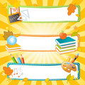 School vector banners Stock Photo
