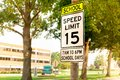 School Zone Speed Limit Sign Royalty Free Stock Photo