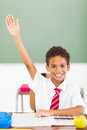 Schoolboy arm up Royalty Free Stock Images