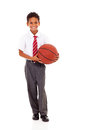 Schoolboy basket ball Royalty Free Stock Images