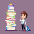 Schoolboy concept illustration Royalty Free Stock Photo
