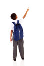 Schoolboy pointing Stock Photography