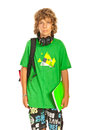 Schoolboy teenager Royalty Free Stock Photo