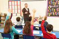 Schoolchildren Studying In Classroom With Teacher Royalty Free Stock Photo