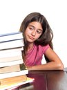 Schoolgirl with learning difficulties Stock Photo