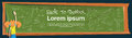 Schoolgirl Write On Class Board Lesson Back To School Banner