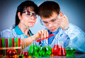 Schoolteacher and student Stock Photography